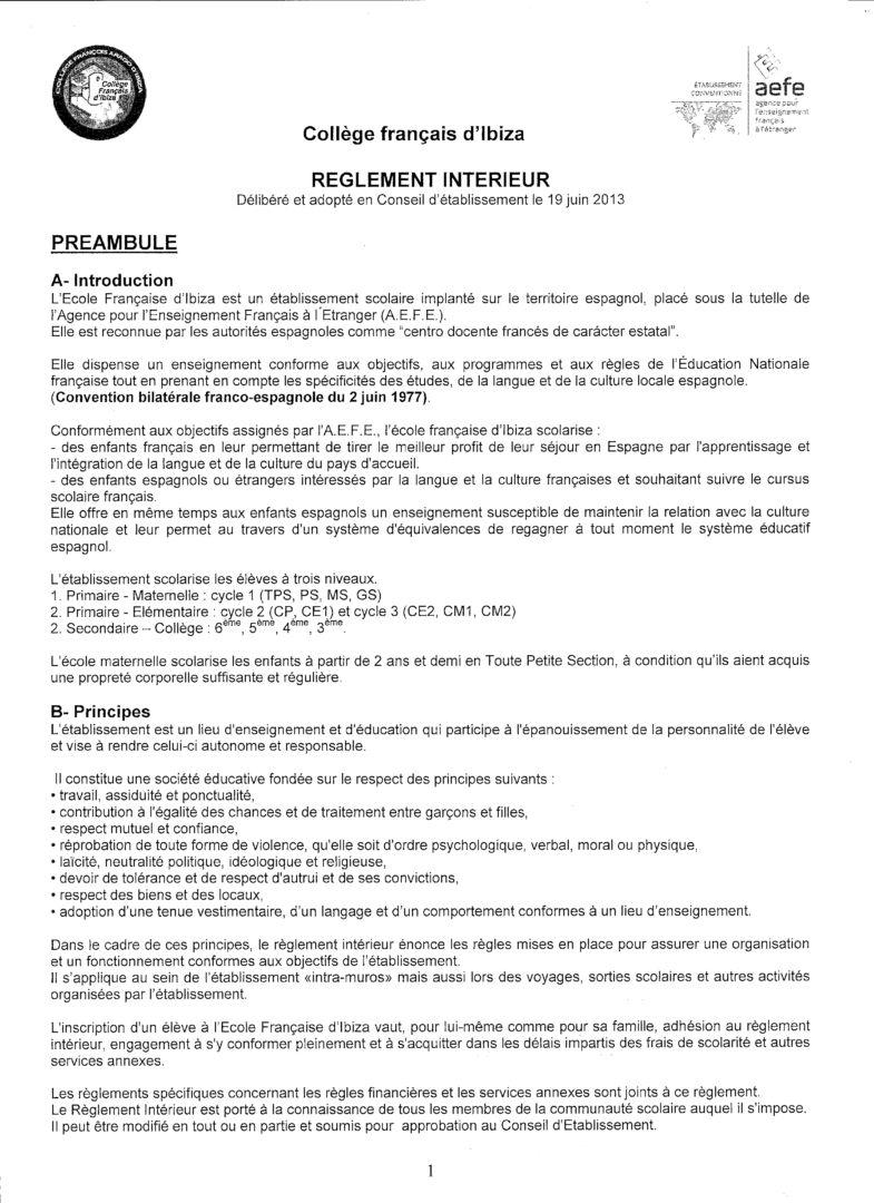 Modele de reglement interieur pour entreprise 28 images for Exemple de reglement interieur entreprise